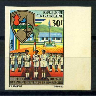 16-10-05589 - Central Africa 1972 Mi.  259 MNH 100% Imperf. Military School Chil
