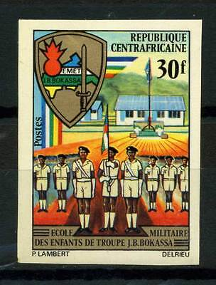 16-10-05590 - Central Africa 1972 Mi.  259 MNH 100% Imperf. Military School Chil