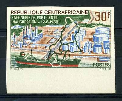 16-10-05561 - Central Africa 1968 Mi.  162 MNH 100% Imperf. Inauguration. Port-