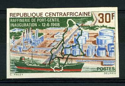 16-10-05560 - Central Africa 1968 Mi.  162 MNH 100% Imperf. Inauguration. 'Port