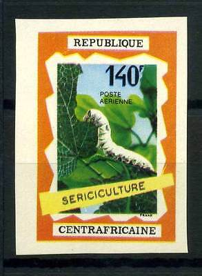16-10-05543 - Central Africa 1970 Mi.  212 MNH 100% Imperf. Sericiculture