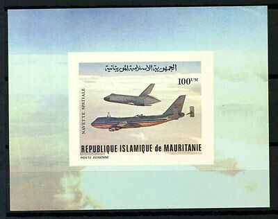 16-10-05484 - Mauritania 1981 Mi.  719 SS 60% Deluxe BL. MNH Navette spatiale