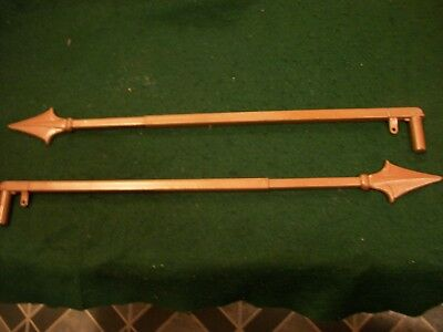 Vintage-Old-Antique- Cast  Swing A Way Drapery -Curtain Rods-