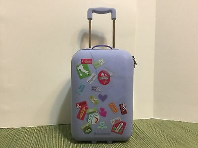 "EUC American Girl 18"" Doll Lavender/purple Hardshell Travel Suitcase"