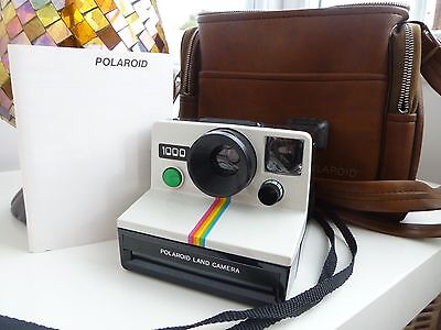 RETRO Polaroid 1000 Land Instant Camera with Originalbrown Case & instructions