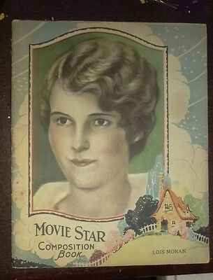 Late 1920's Movie Star Unused composition Books Actress Lois Moran NOS