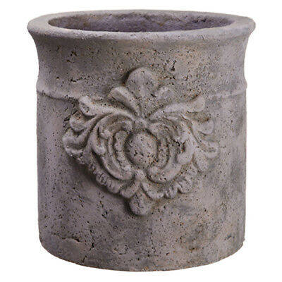 """10""""Hx10.5""""W Cement Round Pot -Gray (pack of 2)"""