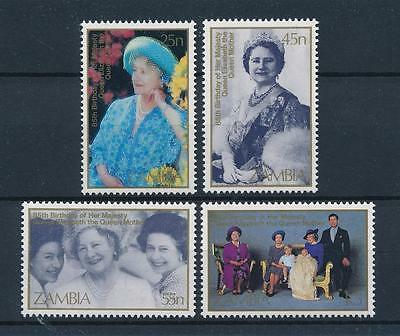 [51195] Zambia 1985 Royalty 85th Birthday Queen mother MNH