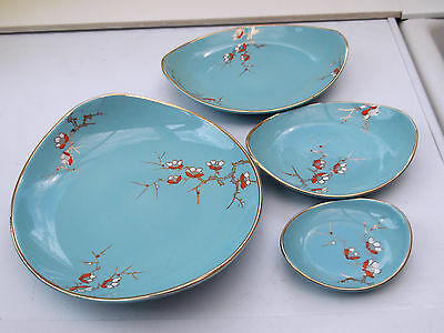 Set Of Four James Kent Old Foley  Graduated Dishes In Capri Pattern