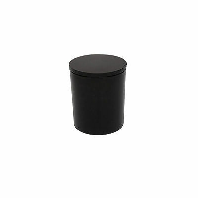 Glass Candle Jar with Lid 300ml Matt Black x12