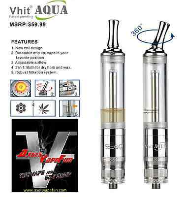 Authentic Seego Vhit Aqua Dry Herb WEED PREMIUM Vaporizer Bong