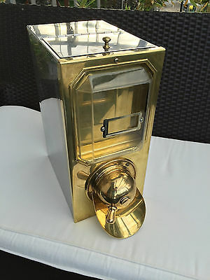 COFFEE (jelly) bean dispenser Container - brass