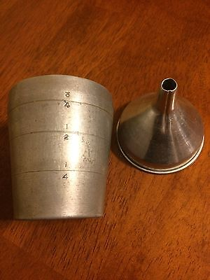 Aluminum Funnel And Measuring Cup