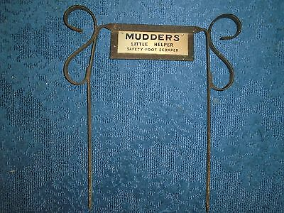 Vintage Cast Wrought Iron Shoe Boot Scraper,a neat one MUDDERS