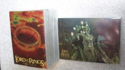 LORD of the RINGS TRILOGY  trading card set 100 Awesome Chrome Foil cards