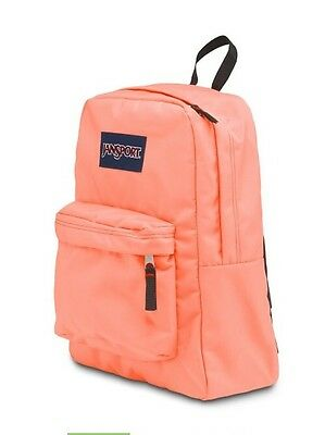 2016 Jansport Superbreak Backpack Coral Peaches 100% AUTHENTIC School book-bag