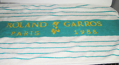 True Vintage 1988 Roland Garros French Open Tennis Souvenir Towel