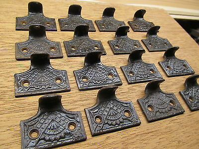 Huge Lot Of 16 Old Eastlake ? Cast Iron  Sash Lifts Pulls Ornate Detail