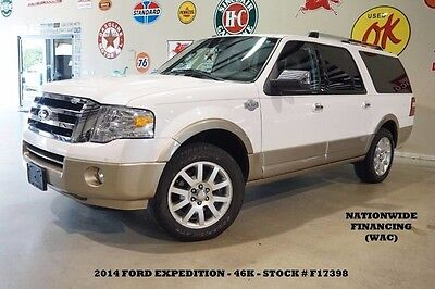 2014 Ford Expedition King Ranch SUNROOF,NAV,REAR DVD,HTD/COOL LTH,46K! 14 EXPEDITION EL KING RANCH,SUNROOF,NAV,BACK-UP,HTD/COOL LTH,20'S,46K,WE FINANCE