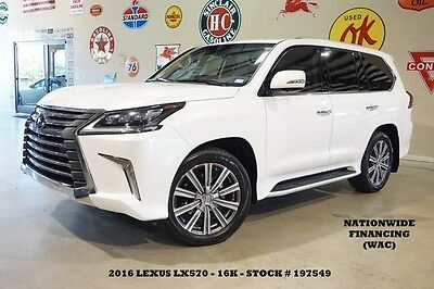 2016 Lexus LX  16 LX570,SUNROOF,NAV,F&SIDE CAM,REAR DVD,HTD/COOL LTH,21IN WHLS,16K,WE FINANCE!!