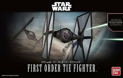 1/72 Star Wars First Order Tie Fighter Model Kit by Bandai Made in Japan