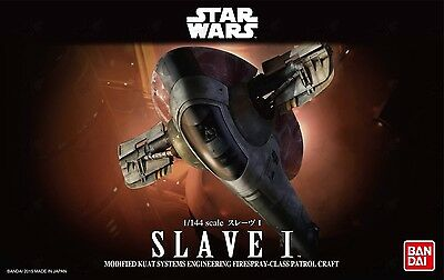 1/144 Star Wars Slave 1 Model Kit by Bandai Made in Japan