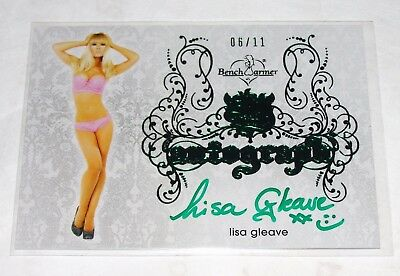 2015 Benchwarmer LISA GLEAVE Sin City #50 Green Foil Auto/11 Deal or No Deal HOT