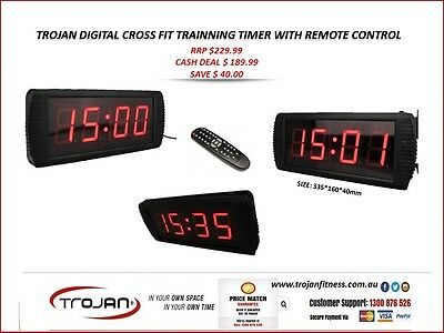 Digital Clock Timer Interval Gym Studio Fitness Wall Mounted Timer with Remote