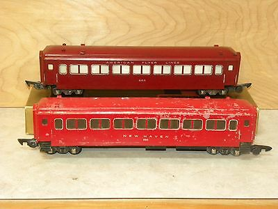 American Flyer Red  Passenger Cars 650, 655 #3
