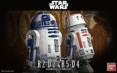 1/12 Star Wars R2-D2 And R5-D4 Model Kit by Bandai