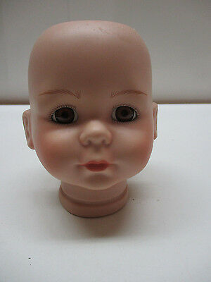 """#125 VINTAGE Moments Treasured Bisque-Porcelain-Doll-Head 4-1/4"""" tall X 10-1/4"""""""