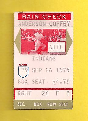 Red Sox Sweep Indians in Doubleheader Clinch 1975 AL East Title Ticket Stub