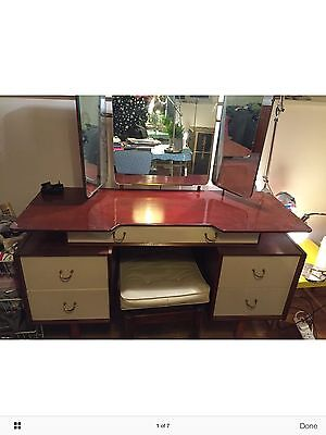 G plan (E Gomme) Dressing Table and Stool. Mid Century Vintage
