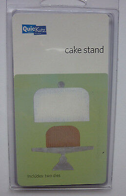 QuicKutz CAKE STAND KS-0491 Wedding Party Occasion Food RARE 2 Die Cutters Set