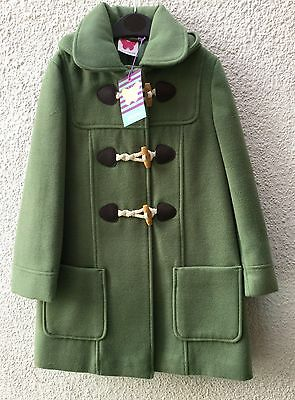 New Girls Green Duffle Coat John Lewis Age 2 Years Brand New With Tags