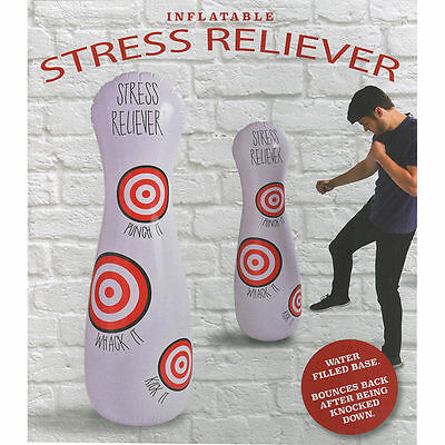 Inflatable Stress Dummy Punching Bag Home Office Stress Reliever Stocking Filler