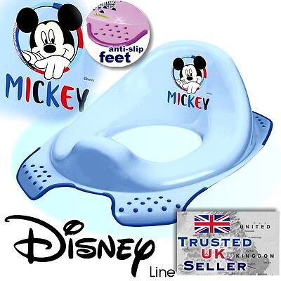 DISNEY Baby Toilet Seat Child Toddler Trainer Training Mickey Mouse NEW