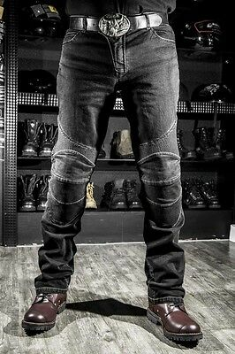 New Riding Road Motorcycle Jeans long Pants with Protect Knee Pad Slim Straight