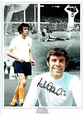 Mike ENGLAND SIGNED Autograph 16x12 Montage Photo AFTAL COA Spurs Tottenham