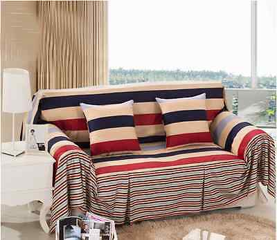 Cotton L-Shaped Sofas Lounge Couch Case Slip Cover for 1 2 3 4 seater Gift