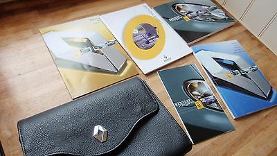 RENAULT MEGANE - 2002 UK OWNERS MANUALS and SERVICE BOOK IN LEATHER WALLET