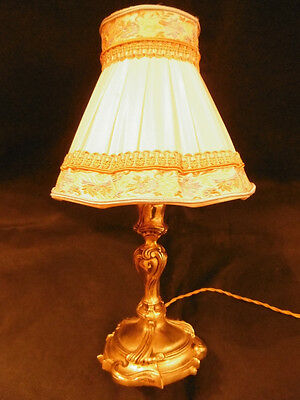 """superb"" Bedside Lamp, Stamped Louis Xv Style - Bronze - French Antique"