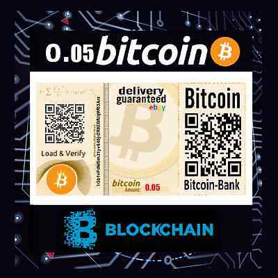 0.05 BITCOIN Certificate Free International Tracked Delivery BTC Digitalcash