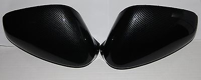 2x ALFA ROMEO GIULIETTA MiTo 159 CARBON LOOK WING MIRROR COVER CAPS REPLACEMENT