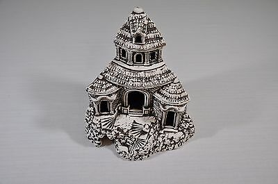 Aquarium Fish Tank Decor Landscape Ornament Cave Ancient Castle Ruins Corner 24c