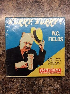 Castle Films  Super 8mm Film - W C Fields Hurry Hurry, Complete Edition