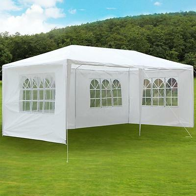 3m x 6m White Waterproof Outdoor Garden Gazebo Party Tent Marquee Canopy New