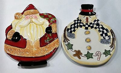 2 Snack Plates Collectible Becca Barton Certified International ...