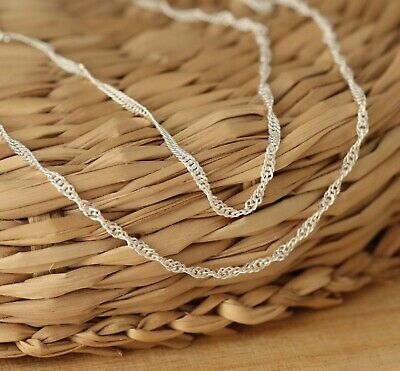 925 Sterling Silver 1.5mm SINGAPORE Chain Necklace Various Lengths Solid Genuine