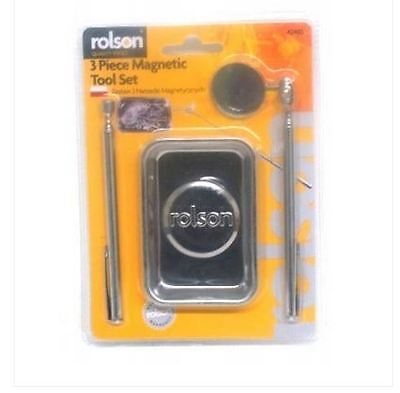 Brand New Rolson 3 Piece Magnetic Tool Set - 42465